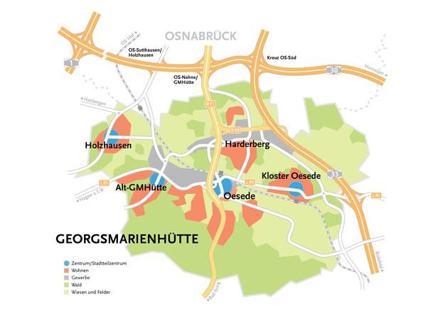 Lageplan Georgsmarienhütte©Stadt Georgsmarienhütte